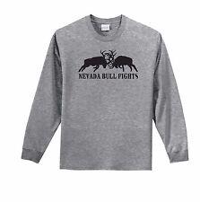 Nevada Bull Fights Elk Bugle Long Sleeve T Shirt Hunt Sportsman Outdoor  S - 4X