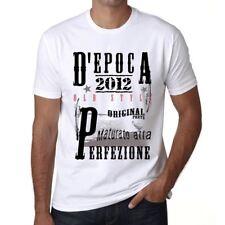 2012, vintage tshirt, D'epoca Tshirt,  Tshirt uomo bianco, regalo Tshirt