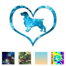 Love Field Spaniel Dog Heart - Vinyl Decal - Multiple Patterns & Sizes - ebn1457