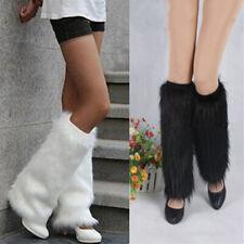 Winter Fashion Women Boot CoversFurry Solid Faux Fur Soft Leg Warmers Newly