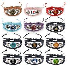 Islamic ALLAH Bohemian Bracelet Boho Bangle Wristband Vintage Leather Rope - UK