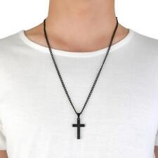 1 Pc Titanium Steel Mens Womens Christian Cross Pendant Necklace Jewelry Gift FI