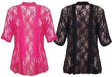 New Ladies Diamonte Lace Floral Detail Cardigans 14-28