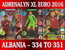 PANINI ADRENALYN XL UEFA EURO 2016 - CHOOSE YOUR ALBANIA TEAM CARDS 334 TO 351