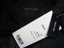 NWT TAHARI *REESE* Detachable Hood Real Rabbit Fur Trim Down Long Coat Sz XS