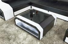 Couchtisch Leder MATERA LED Beleuchtung RGB Wohnzimmertisch Beistelltisch Tisch