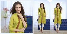 Indian Pakistan Kurti Ethnic Woman Bollywood Designer Dress Tunic 40 42 44 5904