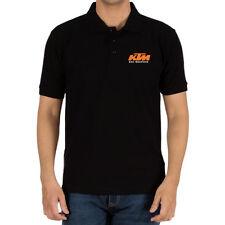 Genuine KTM Racing Logo Duke Bike MX SF-X Motorcycle Black Men Polo Tee T-Shirt