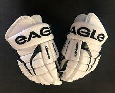 "Eagle Custom Aero White Hockey Gloves! MSH3 Palms, 12"" 13"" 14"" 15"" White Glove"