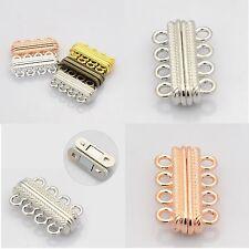 4-reihig Schließe Magnetverschluss Magnetic Clasp 4-strands gold silber bronze