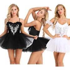 Women Ballet Dance Dress Classic Swan Lake Professional Tutu Skirt Costume Plus