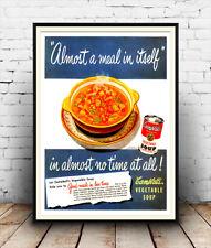Campbells VERDURA-SOUP vintage pubblicità poster riproduzione.