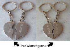 geteiltes Herz Partner Schlüsselanhänger graviert Gravur Geschenk ❤ Valentinstag