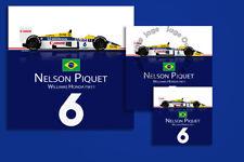 Nelson Piquet Williams FW11 1986 F1 Sticker - High Quality Digital Illustration
