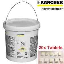 20 Tabletas de Limpieza para RM760 Genuino Karcher Puzzi 100 300 8/1 C 10/1 10/2 30/4