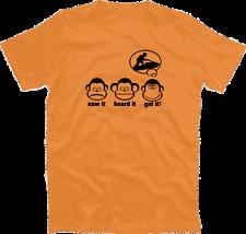 Tre scimmie saw it heard it got it Jetski Sport Acquatici jetboot MARE T-Shirt S-XXXL