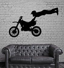 Vinyl Decal Wall Sticker Motorcycle Racer Motocross Jump Stunt Decor (n773)