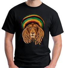 Velocitee Mens Rasta Lion T Shirt Reggae Rastafarian Marley W19245