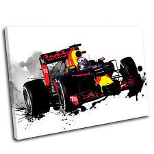 Daniel Ricciardo Formula One Canvas Splatter Art Print  - Gallery Grade