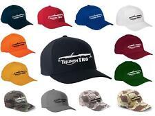 Triumph TR-6 TR6 Sports Car Classic Color Outline Design Hat Cap