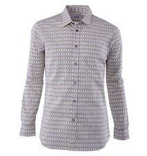 """MOSCHINO Printed Cotton Shirt """"Beer"""" White Yellow 04374"""