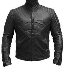 Superman Black Sheepskin Leather Jacket