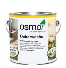# Osmo Dekorwachs creativ intensive Farben: 1x transparent / 2 Anstriche deckend