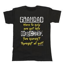 GRANDAD MISCHIEF Mens T-Shirt Gift Birthday Fathers Day Christmas Grandfather