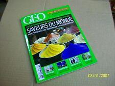 "GEO  390  "" saveurs du monde  ""."