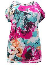 Womens plus size 24  26 28 30 Top cold shoulder longer lngth short sleeve tunic