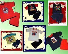 COOLER SONNO TUTA SPIDERMAN Shorty Shirt + Short 104-140 6 modelli NUOVO