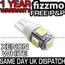 5 SMD LED XENON WHITE 501 T10 W5W PUSH WEDGE 360 DEG SIDE LIGHT BULB FREE P&P