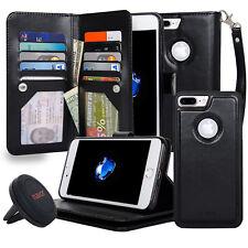 NAVOR Car Mount AND iPhone 7 Plus Case Magnetic Detachable Wallet Case