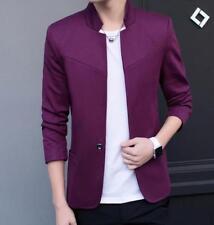 New Men's Slim Fit One Button Casual FW Suit Blazer Pure Color Coat Jacket Tops