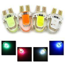 UK x2 SILICONE T10 COB LED 501 W5W GREEN RED WHITE or BLUE BULB 12v