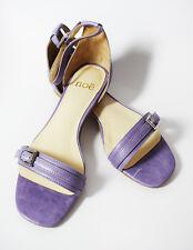 Noe Flat Leather Women Sandals Shoes Slippers Flats Purple