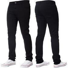 Men's Peviani Black Slim Fit Smart Wear Look Casual Chino Trouser Pants