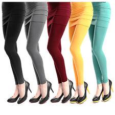 Leggings avec Mini-jupe 2in1 monobloc One size pantalon tapis femmes Collant
