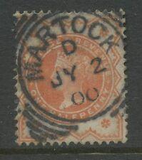 Somerset Martock 1900 Full Upright Postmark on Qv 1/2d Vermilion