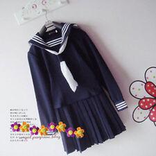 COS Fashion Stylish Japanese High School Girl Sailor Uniform Cosplay Costume