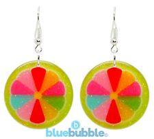 Bluebubble FEELIN FRUITY Glitter Earrings Sweet Funky Kitsch Kawaii Retro Hippy