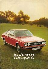 Audi 100 Coupe S 1975-76 UK Market Sales Brochure