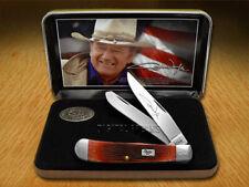 CASE XX John Wayne Commemorative Barnboard Dark Red Trapper Pocket Knives Knife