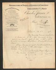 """PARIS (XI°) USINE de TOLERIE & APPAREILS DE CHAUFFAGE """"Charles JANCE"""" en 1916"""