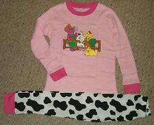 NIP Barney & Friends Down On The Farm L/S Pajamas Set Size's 5T- 6T - 7T