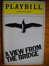 Playbill  A View From the Bridge Tony Lo Bianco Alan Feinstein Saundra Santiago