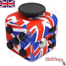 Premium Fidget Cubo Smooth Touch sollievo stress Giocattolo Bandiera UK Venditore UK = UK STOCK