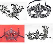 Metall Masken Sexy Laser-Cut venezianische Augenmaske Maske mit Kristal schwarz