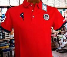 Polo uomo Johnny Brasco in cotone con logo ricamato e stampa collo art 458812