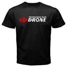 DJI Professional pilot drone - Custom Men's Black T-Shirt Tee